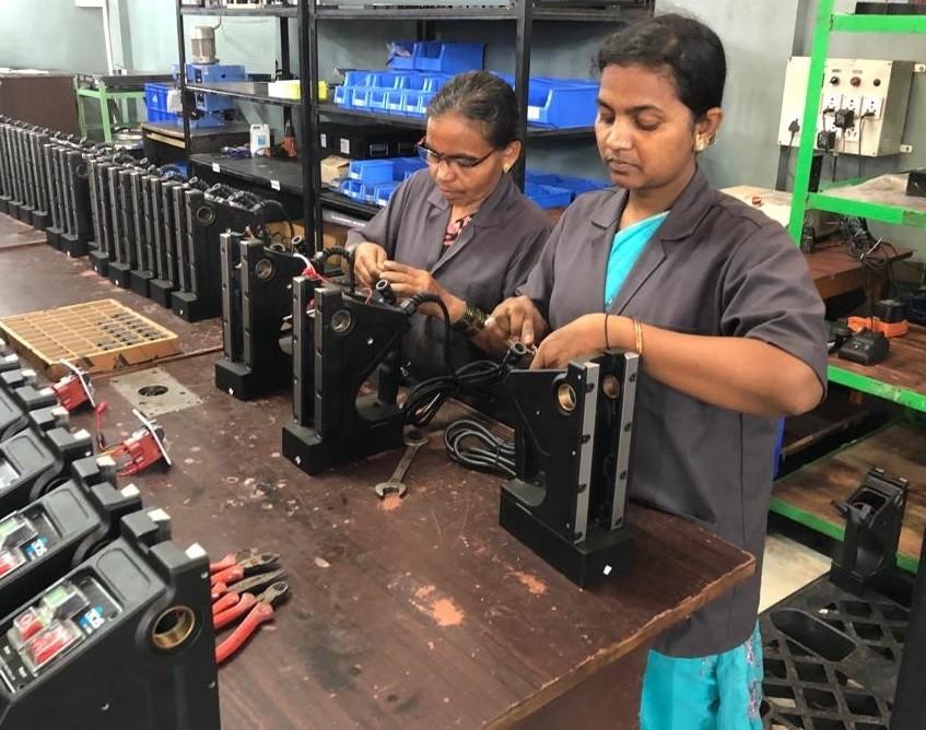 women in factories in india