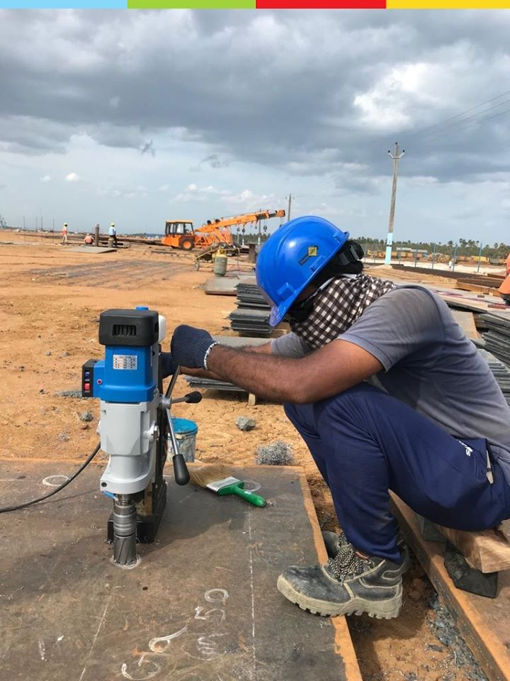 magnetic drill for power plant construction