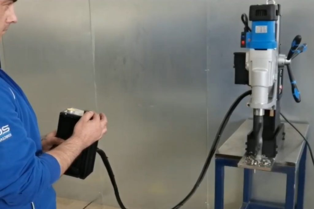 remote magnetic drill machine