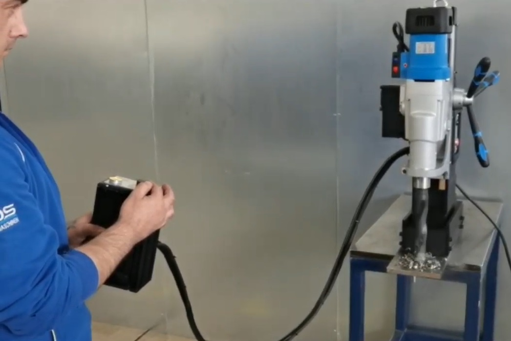 remote magnetic drill machine