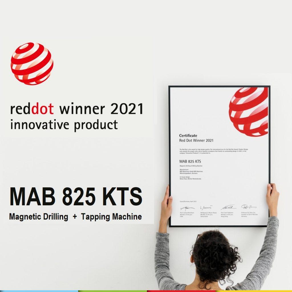 MAB 825 KTS – Winner of Red Dot Award: Product Design 2021